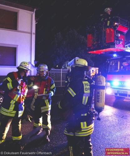 Zimmerbrand in einer Dachgeschosswohnung
