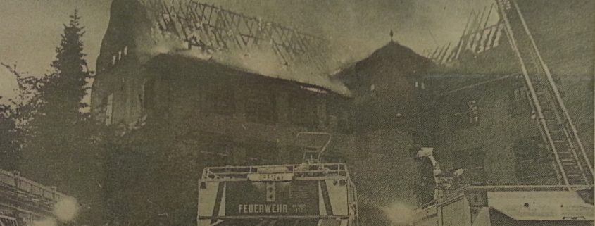 Großbrand der Albert-Schweitzer-Schule jährt sich zum 25. Mal