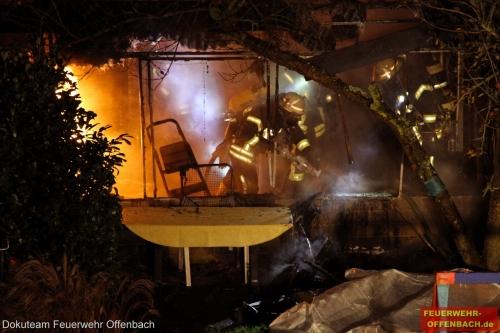Gartenhüttenbrand in der Schloßmühlstraße