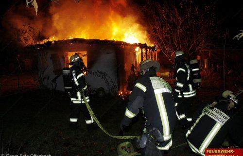 Gartenhüttenbrand im Reinhardswaldweg