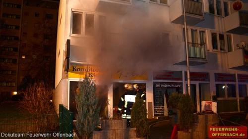 Feuer im Verkaufsraum einer Bäckerei