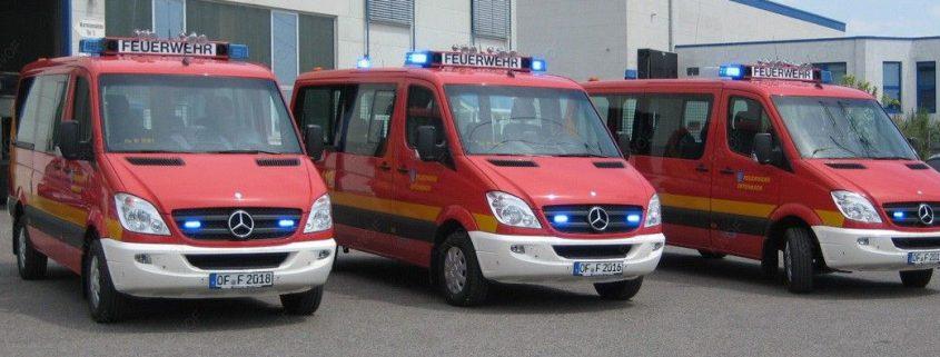 Drei neue Einsatzfahrzeuge für die Freiwillige Feuerwehr Offenbach