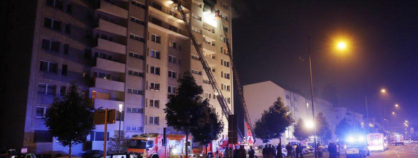 Nordring 10: Feuer im 9. Obergeschoss