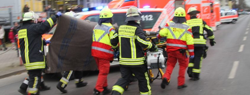 Verkehrsunfall mit sieben verletzten Personen
