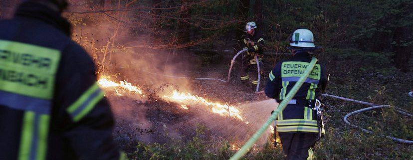 Feuer in der Tiefgarage und Flächenbrände im Wald